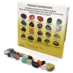 20pc Display Crystal Gemstone Reiki Polished Healing Chakra Stone Collection Set