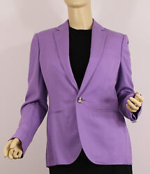 Ralph Lauren Purple Label Collection Cashmere Jacket Womens 8 Lavender Coat