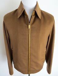 $9000 NWT ZILLI 100% Cashmere with Lambskin Trim Jacket Coat 52 EU 42 US Medium