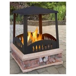 Fire Pit Propane Gas Outdoor Patio Furniture Heater Square Backyard Fireplace