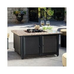 Fire Pit Table Outdoor Propane Gas LP Patio Heater Furniture Fireplace Backyard
