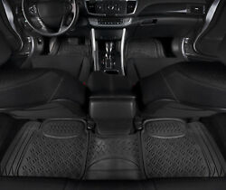 Car Floor Mats Black All Weather 3D Rubber 3 PC for Car Truck SUV $32.90