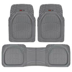 FlexTough Shell Rubber Floor Mats Gray Heavy Duty Deep Channels for Car 3pc Set $34.90