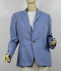 Ralph Lauren Purple Label Collection Cashmere Jacket Womens 8 Blue Coat