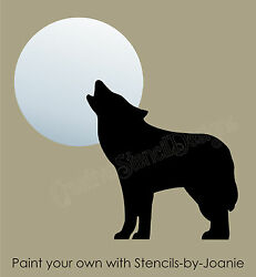 Joanie Stencil Southwest Coyote Howl Wolf Moon Mountain Cabin Rustic DIY Signs $12.95