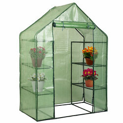 Hotest Walk In 8 Shelves Greenhouse Portable Mini Outdoor 4 Tier Green House New