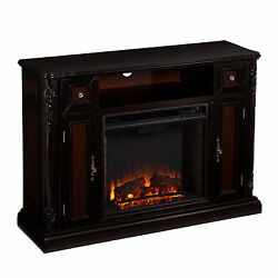 GibbsTV Stand with Electric Fireplace for Screens up to 46