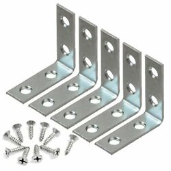 5 Pcs 1.5quot; inch quot;Lquot; Steel Corner Braces w Screws Pack LOT Right Angle Bracket