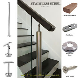 Stainless Steel Stair Parts Modern Glass - Rods & Cable Railing Systems