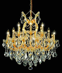 World Capital Maria Theresa 19 Light Dining Crystal Chandelier in Gold $1,265.00