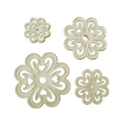 Orchard Products Set of 4 LACY HEART Icing Sugarcraft Cutters Cake Decorating