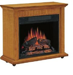 Classic Flame Carver Amish-Style Oak Mantel & Electric Fireplace 4600btu