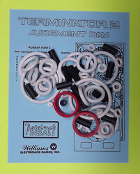 1991 Williams Terminator 2 pinball rubber ring Kit T2
