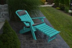 A&L Furniture Adirondack Chair with Pullout Ottoman