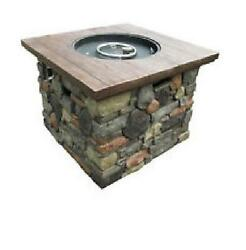 Outdoor Gas Fire Pit Table 20lb - 30.000btu Includes lava rock and PVC cover