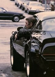 STEVE MCQUEEN HEAD OUT OF WINDOW OF 1979 PONTIAC TRANS AM CAR 5X7 PHOTO HOT ROD