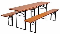 Beer Garden Table and Bench Set Folding German Made