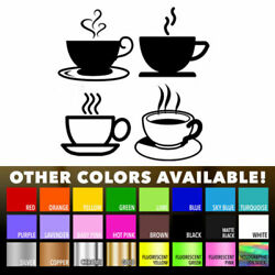 Tea Coffee Cups for Kitchen Wall Shop Sticker Wall Art Window Decor Vinyl Decal $8.96