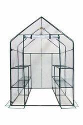 12 Shelf Portable Garden Patio Small Walk In Greenhouse cover Structure Kit