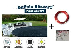 Buffalo Blizzard 24 Round Deluxe Swimming Pool Winter Cover - 10 Year Warranty $54.69