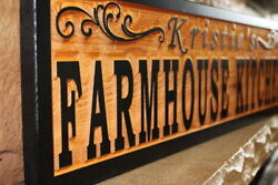 Custom Farmhouse Kitchen Sign Wood Personalized Rustic Home Decor Country Signs $74.95