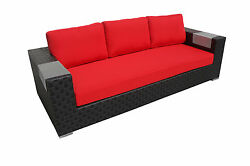 Patio Resorts Lifestyles Inc. Barbados Collection Deep Sofa with Cushions