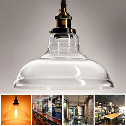 Industrial Pendant Lamp Vintage Chandelier Ceiling Light Fixture Pendant Glass $35.90