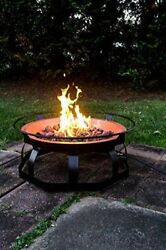 Patio Fire Pit Large Size Outdoor Propane Garden Heater Lava Rocks Fireplace