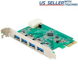Protronix 4 Port SuperSpeed USB 3.0 PCI Express Controller Card $10.95