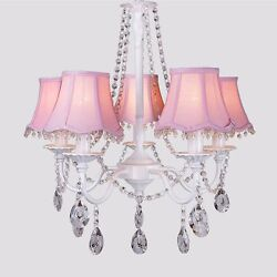 Fabric Crystal Princess Room Pendant Lights Lamps Lamp Kid#x27;s Room Chandelier $188.66