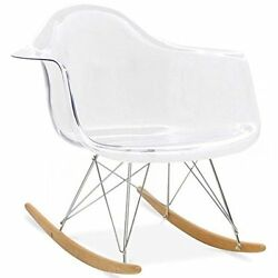 2xhome - Clear - Eames Chair Style Molded Modern Plastic Armchair – Contemporary