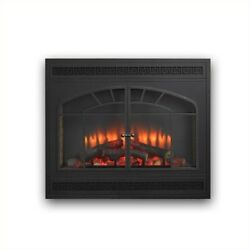 Outdoor Greatroom Greatco Electric Fireplace Front for GBI-34 in Matte Black