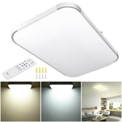 48W Dimmable LED Ceiling Light Bathroom Remote Flush Mount Home Fixture Lamp 25quot;