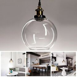 Vintage Glass Ceiling Pendant Chandelier Industrial Light Round Ball Shade Lamp $31.90