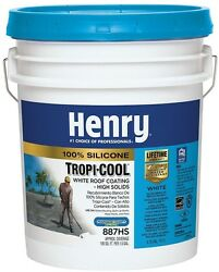 Henry Tropi-Cool 4.75 Gal. 887 White 100% Silicone RV Mobile Home Roof Coating
