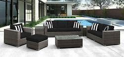 Solis Patio Lusso 7 Piece Deep Seating Group with Cushion