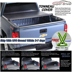 Fits 2007-2019 Toyota Tundra ROLL UP LOCK SOFT Tonneau Cover 6.5ft (78