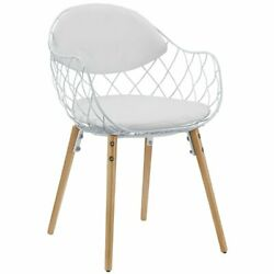 Modway Basket Contemporary Dining Arm Chair in White $187.85