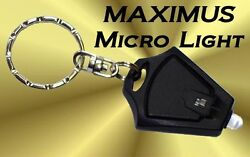 MICRO LIGHT FLASHLIGHT KEYCHAIN LED Camping Torch Rave Promotional $2.95