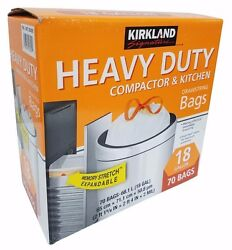 Kirkland Expandable Heavy Duty Compactor amp; Kitchen Bags 18 Gallon 70 Bags $26.46