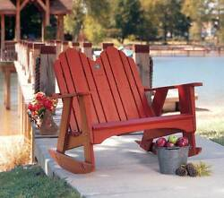 Two Seater Adirondack Rocking Chair in Yellow Pine [ID 187380]