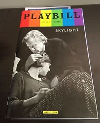 June 2015 Pride Playbill Skylight Carey Mulligan and Bill Nighy
