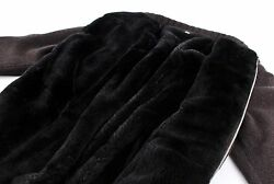 $6800 STEFANO RICCI 100% CASHMERE  CASTORINO FUR LINED Bomber Jacket Sweater L