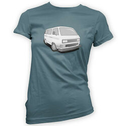 German Look Wedge Womens T-Shirt -x14 Colours- Gift Present Bus Camper T3 T25 $18.73