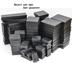 Black Cotton Filled Jewelry Boxes Black Gift Boxes for Jewelry Lot 20 50 100 500 $31.79