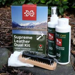 Pelle Leather Care - Supreme Leather Dual Kit - Upholstery CleanerConditioner