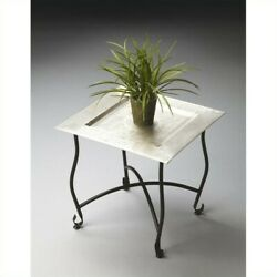 Butler Specialty Metalworks Moroccan Square Tray Table in Silver