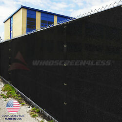 Black Green Beige Brown 4#x27; 5#x27; 6#x27; 8#x27; Fence Privacy Wind Screen Mesh Shade Cover $57.59