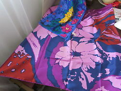 Silk Scarf Lot Jacqmar Vintage Retro Floral Abstract Rare Anne Klein Purple Pink
