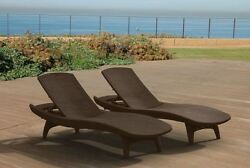 Outdoor Chaise Lounges Pool Chairs Outdoor Sunbathing Wicker Beach Rattan
